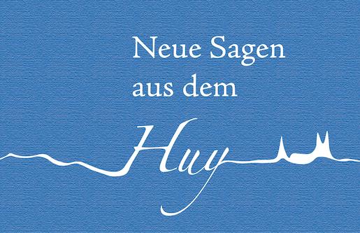 """Die Silhouette der Huysburg auf blauem Hintergrund. Symbolbild für die """"Neuen Sagen aus dem Huy""""."""