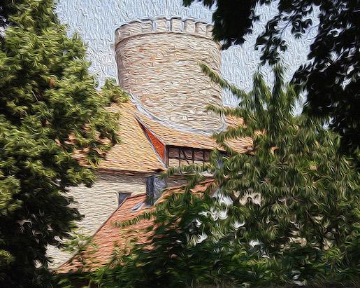 """Die Burg Schlanstedt. Symbolbild für die Geschichte """"Die Retter der Burg Schlanstedt""""."""